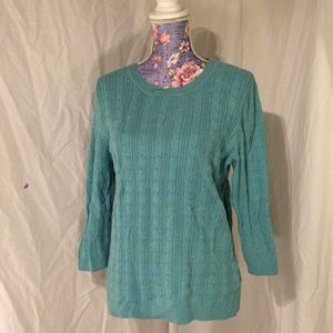 Croft & barrow stretchy 3/4 cable knit sweater